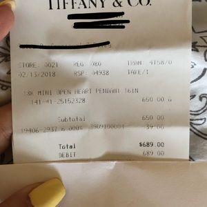 Tiffany & Co. Jewelry - Tiffany & Co Open Heart Pendent